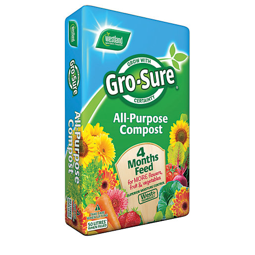 Gro-sure All-Purpose Compost & 4 Month Feed -