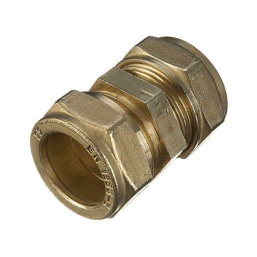 Wickes brass compression coupling mm