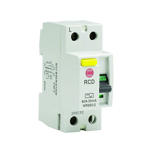 Wylex 30mA Double Pole RCD Circuit Breaker -
