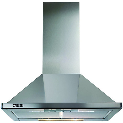 Beautiful Zanussi 60cm Chimney Cooker Hood ZHC60136X