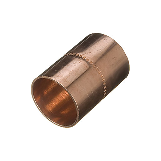Wickes End Feed Straight Coupling - 28mm Pack