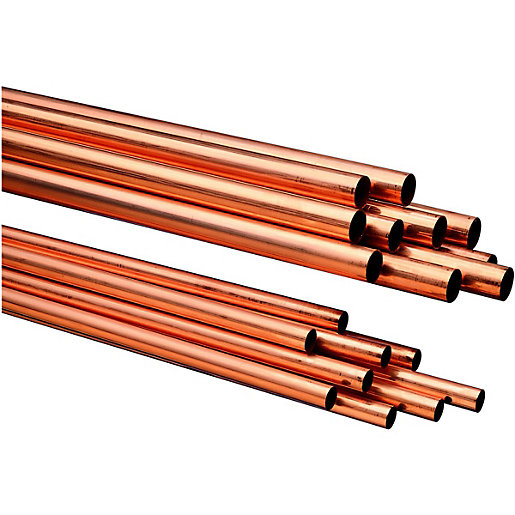 Wickes Copper Tube 15mm X 3m Pack 10