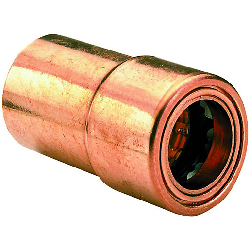 Wickes Copper Push Fit Reducer - 22 x