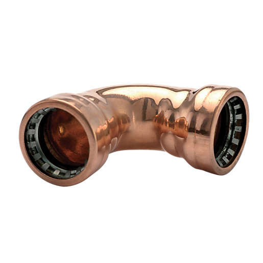 Wickes Copper Pushfit Elbow - 15mm Pack of