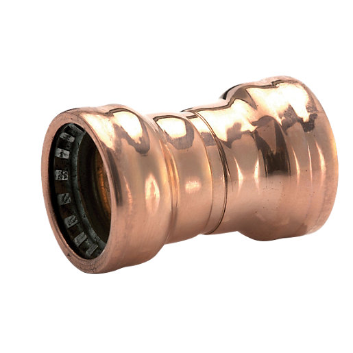 Wickes copper pushfit straight coupling 15mm for Copper water pipe connectors