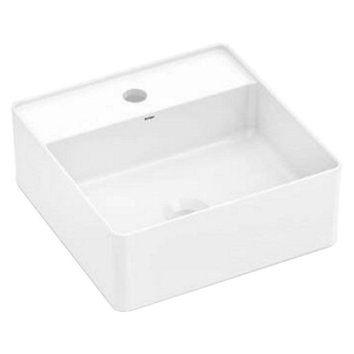 Wickes Platinum 1 Tap Hole Square Countertop Basin