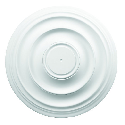 Wickes Kitchen Pendant Lights: Wickes White Polyurethane Plain Ceiling Rose