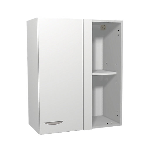 Wickes Dakota White Matt Slab Corner Wall Unit