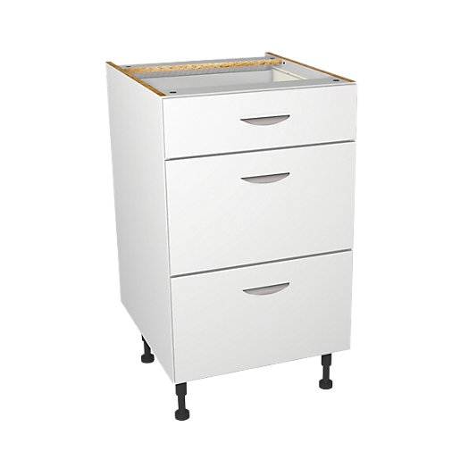 Wickes Dakota White Matt Slab Drawer Unit -