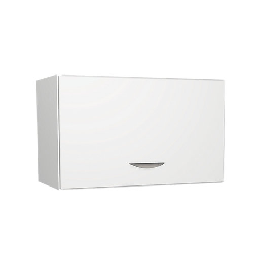 Wickes Dakota White Matt Slab Narrow Wall Unit