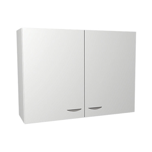 Wickes Dakota White Matt Slab Wall Unit -