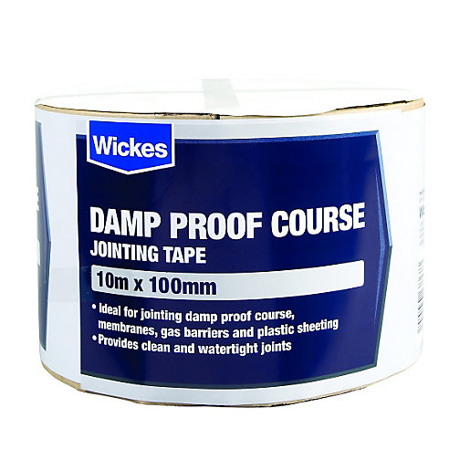 Wickes Damp Proof Course Jointing Tape 100mm X 10m