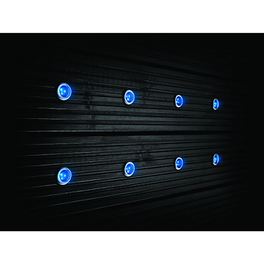 Wickes blue led deck lights 30mm 40w pack of 8 wickes mozeypictures Images