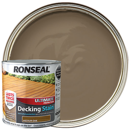 Ronseal Ultimate Protection Decking Stain - Medium Oak