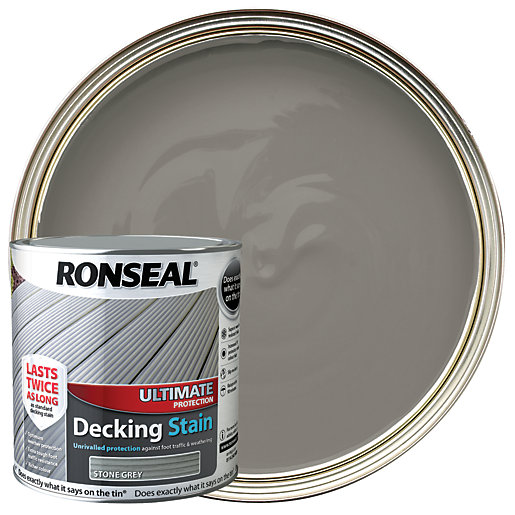Ronseal Ultimate Protection Decking Stain - Stone Grey