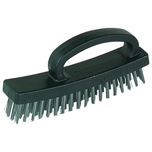 Wickes Easy Grip 4 Row Wire Brush