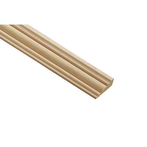 Wickes Light Hardwood Barrel Moulding 34mm x 12mm
