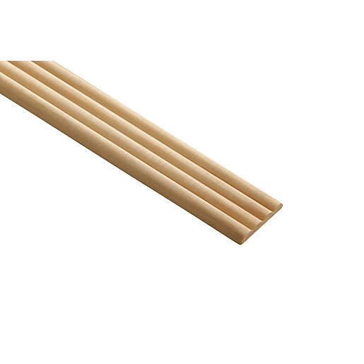 Wickes Pine Reed Moulding - 34mm x 6mm