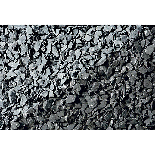 Wickes blue slate chippings major bag for Decorative stone garden border