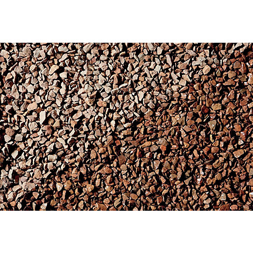 Wickes Cumbrian Red Natural Stone Chippings - Major