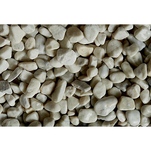 Wickes White Pebbles - Major Bag