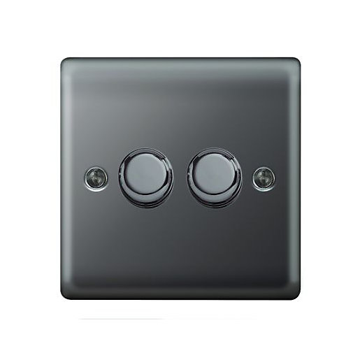 Wickes Dimmer Switch 2 Gang 2 Way 400W