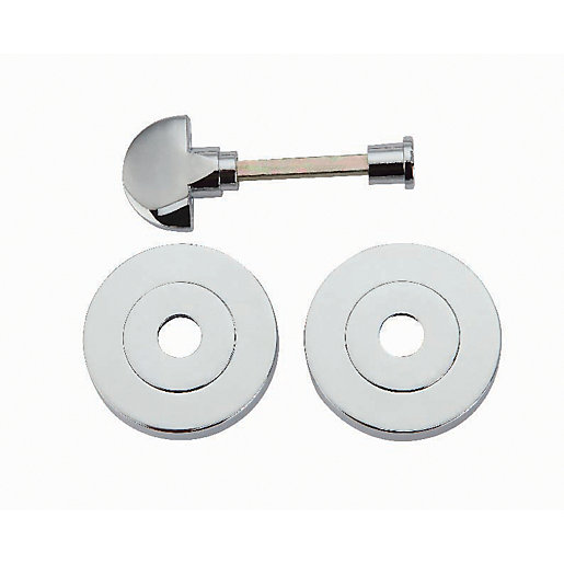 Wickes Thumbturn & Release Lock - Polished Chrome