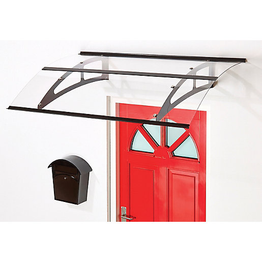 Superroof Berlin Door Canopy Black 1500 x 925mm