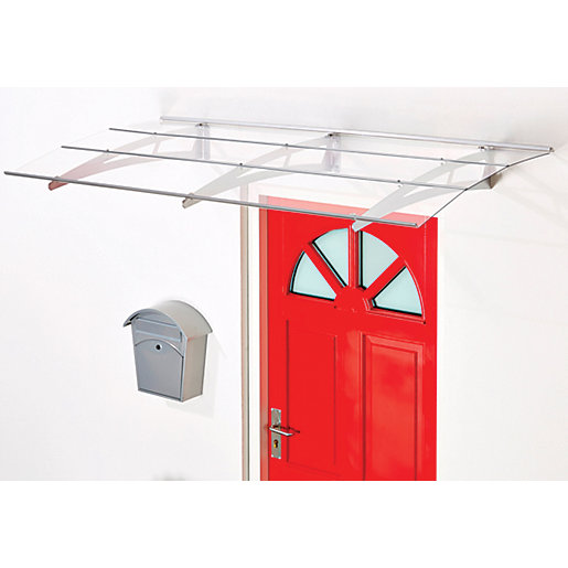 Superroof Madrid Door Canopy Silver 1800 x 880mm