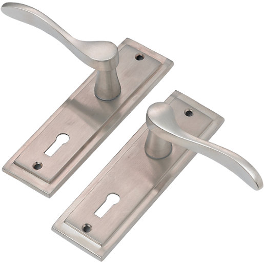 Delicieux ... Door Handle   Satin Nickel 1 Pair Becomes Available Again. Mouse Over  Image For A Closer Look.
