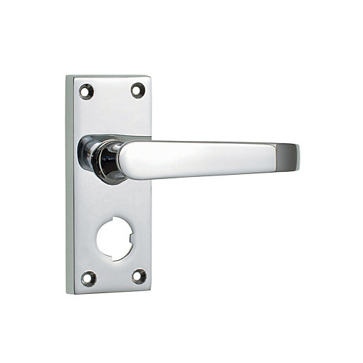Wickes New York Victorian Straight Privacy Door Handle
