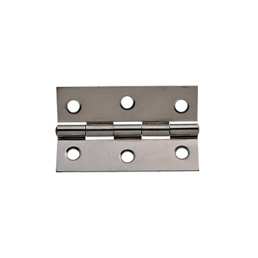 Mouse over image for a closer look.  sc 1 st  Wickes & Wickes Butt Hinge - Chrome/Steel 76mm Pack of 2 | Wickes.co.uk
