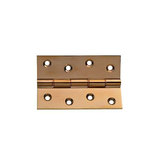 Wickes Butt Hinge - Polished Brass 100mm Pack