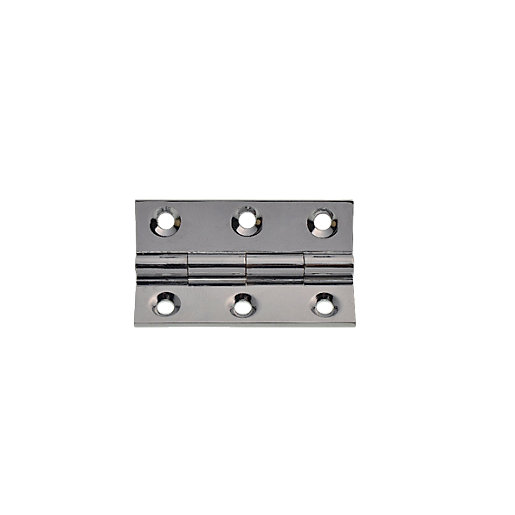 Wickes Butt Hinge - Solid Brass Chrome Plated