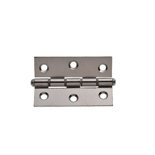 Wickes Double Steel Washered Butt Hinge - Polished