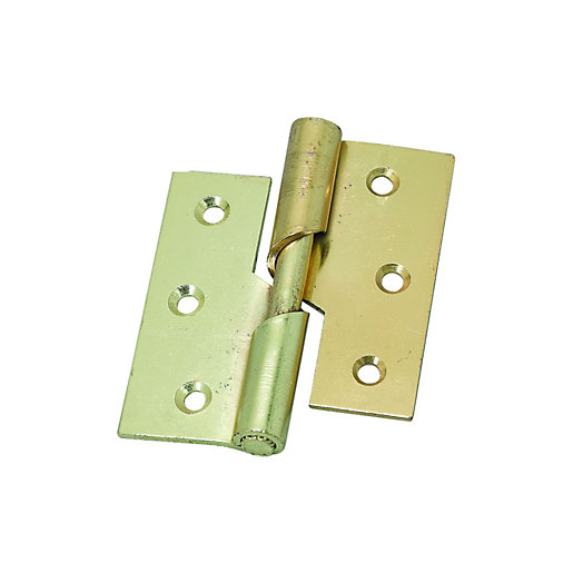 Wickes Left Hand Rising Butt Hinge 76mm Pack Of 2