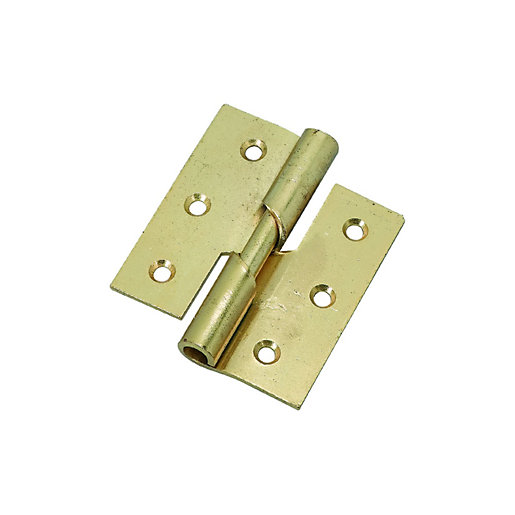Wickes Right Hand Rising Butt Hinge 76mm Pack Of 2