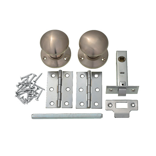 Mouse over image for a closer look.  sc 1 st  Wickes & Wickes Victorian Mortice Door Knobs Set - Satin Nickel 1 Pair ...