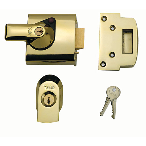 Yale P Bs1 Blx Pb 60 British Standard Nightlatch Brass