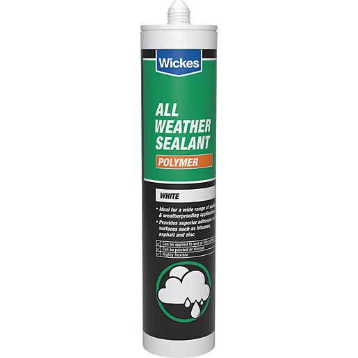 Wickes All Weather Polymer Sealant - White 300ml