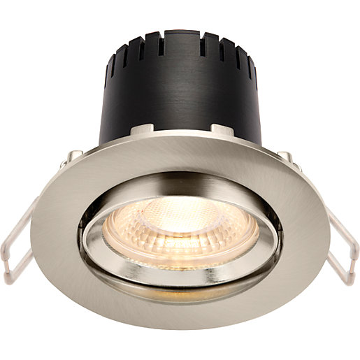 Saxby Integrated LED Adjustable Warm White Dimmable Downlight
