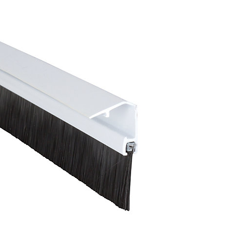 Wickes Concealed Fixing Door Brush Draught Excluder White