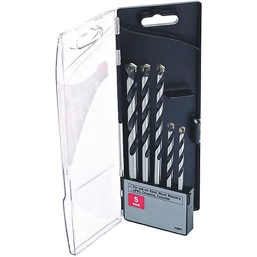 Wickes Multi Purpose Drill Bit Set - Pack