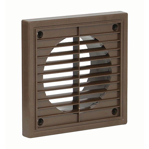 Manrose PVC Fixed Grille - Brown 100mm