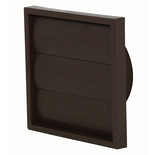 Manrose PVC Gravity Wall Shutter Grille - Brown