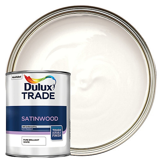 Dulux Trade Satinwood Paint Brilliant White L