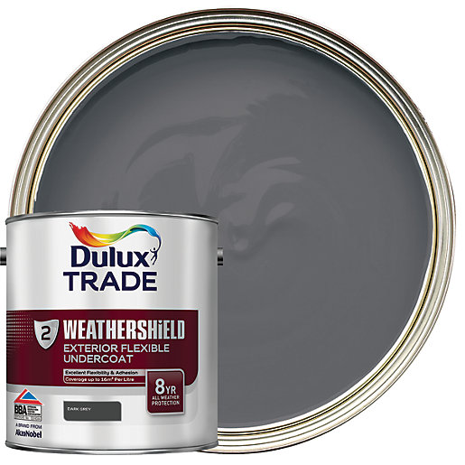 Dulux trade weathershield exterior undercoat paint dark - Weathershield exterior paint system ...