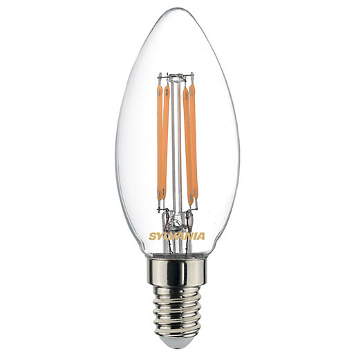 Sylvania LED Non Dimmable Filament E14 Candle Light