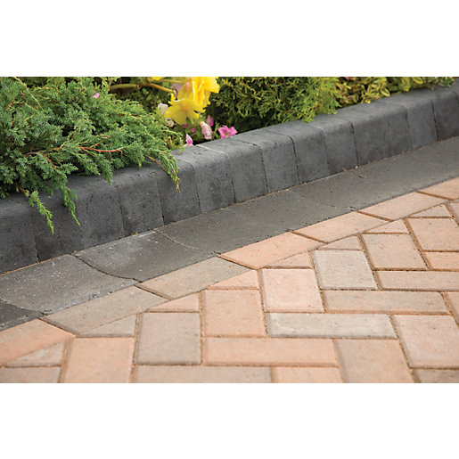 Marshalls Keykerb Smooth Edging Stone Pack - Charcoal