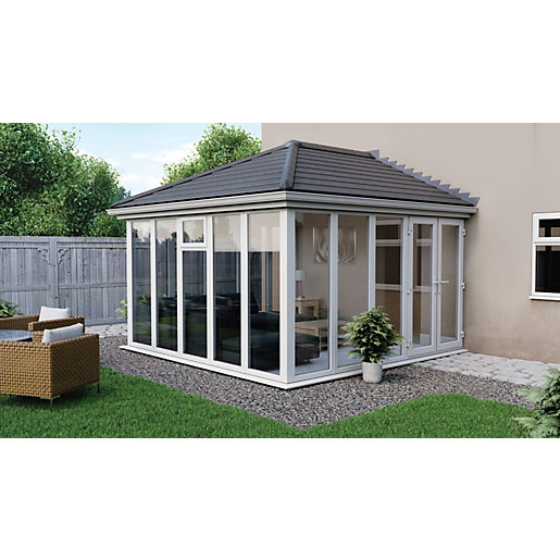 Euramax Edwardian E11 Solid Roof Full Glass Conservatory